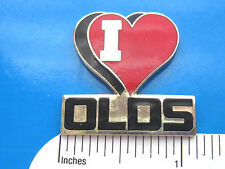 I (heart) LOVE  OLDS  OLDSMOBILE - hat pin ,  lapel pin , tie tac  GIFT BOXED