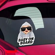 Cool Baby on Board Funny Joke Novelty Car Bumper Window Sticker Decal Colour