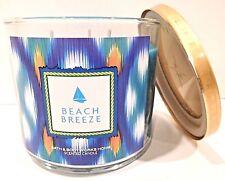 BATH & BODY WORKS BEACH BREEZE SCENTED CANDLE 3 WICK 14.5 OZ