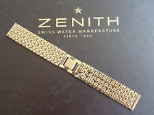 NOS VINTAGE 20MM FINE GOLD LINK WATCH BAND WATCHBAND BRACELET STRAP FOR ZENITH A