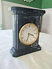Vintage Beautiful Portsmouth Quartz Bettery Oper Desk Top Marble Clock