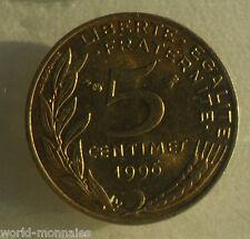 5 centimes marianne 1996 4 plis : SPL : pièce de monnaie française