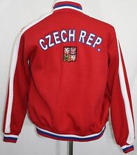 Embroidered CZECH REPUBLIC Soccer Futbol Full Zip Jacket Red Small SEE PHOTOS!