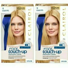 Lot 2 Clairol Root Touch Up #9 Light Blonde 100% Gray Coverage Permanent Color