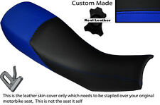 BLACK & ROYAL BLUE CUSTOM FITS HARTFORD VR 125 DUAL LEATHER SEAT COVER ONLY