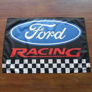 Ford Racing Banner Flag - Focus Fiesta Escort Sierra Mustang ST RS Sign Poster