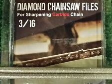 "3/16 Diamond Chainsaw file 3/16"" for Carbide chain 2 pack"