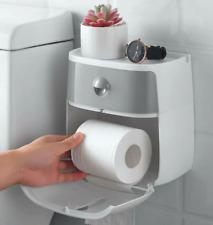 Toilet Paper Holder Storage Bathroom,Wall stick,Wipes,Tissue,Designed 2020