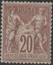 "FRANCE STAMP TIMBRE N° 67 "" TYPE SAGE 20c BRUN LILAS "" NEUF x TTB SIGNE J875"