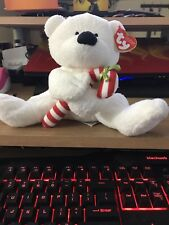 2005 Retired ty Beanie Baby Pluffie- Candy Cane the Bear- Mint Condition