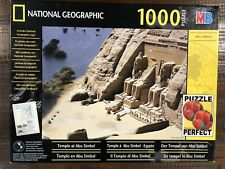 NATIONAL GEOGRAPHIC 1000 Piece Puzzle 2002 Egyptian *Temple At Abu Simbel* & Map