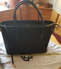"Dagne Dover Legend 15"" Black Handbag Work Tote USED Coffee Stain Inside Still GC"