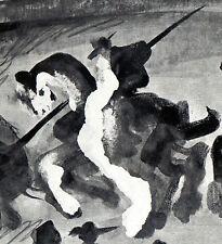 PABLO PICASSO 1960 PRINT w/COA awesome unique work CORRIDA Very Rare Picasso Art