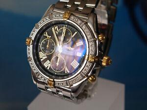 Breitling Crosswind A13355 - Stahl/Gold Diamant Lünette