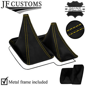 YELLOW STITCH TOP-GRAIN LEATHER GEAR + METAL FRAME FOR NISSAN PATROL Y61 97-13