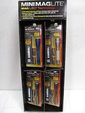 Maglite Store Commerical Display Flashlights 2 AA Mini Mag Holster LED EB711726