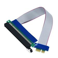 PCI-E Express 1X To 16X Riser Card Extender Extension Ribbon Flex Adapter Cable