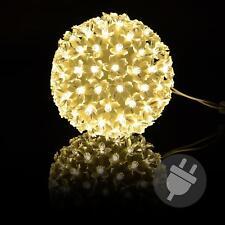 100er LED Lichterball warm weiß Lichterkugel Leuchtball Weihnachten Deko Kugel