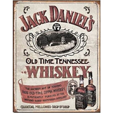Jack Daniels Old Time Tennessee Whiskey Metal Sign Wall Art