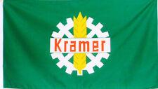 Fahne KRAMER Logo Traktor Groß 1,5 Meter x 0,9 Flagge Grün Trecker Schlepper