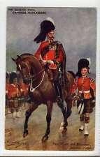(Lt015-383) Queens Own Cameron Highlanders, Field Officer  Used, c1910 VG,
