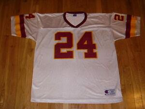 Vintage Champion CHAMP BAILEY White WASHINGTON REDSKINS Mens NFL Team JERSEY 44