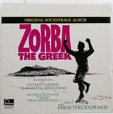 """ZORBA THE GRECO SOUNDTRACK MIKIS THEODORAKIS QUINN BATES PAPAS 12"""" LP (b354)"""