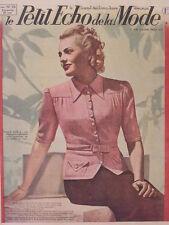 Le Petit Echo de la Mode N° 26 du 29/06/1941 Journal Naisance