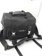 Canon DSLR Camera Bag Case Forest Black /w Shoulder Strap Padded Adjustable