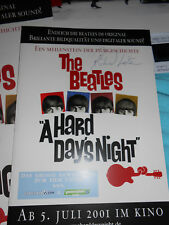 Beatles A Hard Days Night - Autogramm Richard Lester, Dia, Aushangbilder, Promo