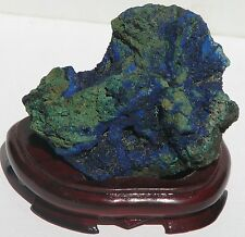 X Large Natural Crystal Raw Azurite and Malachite 865g on stand (AM34)
