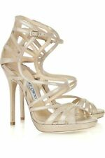 """Jimmy Choo Suede Stiletto Very High (greater than 4.5\) Women's Heels"""""""