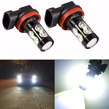 2 Pcs H11 H9 H8 50W CREE XBD 6000K White LED High Power Fog Driving Lights Bulb