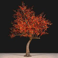 Bright Baum Cherry LED Artificial Tree 9FT Red Light Store Decor