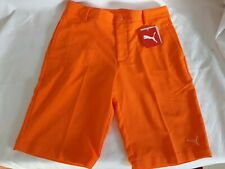 Puma Golf Youth Solid Tech Shorts Junior Collection Orange Sz Large msrp $45