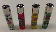 4 PACK OF CLIPPER LIGHTER REFILLABLE RASTA JAMAICA DESIGN
