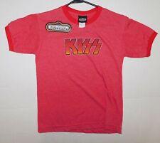 KISS Band 1970's Sunburst Distressed Logo Red T-Shirt M Winterland UNWORN 2003