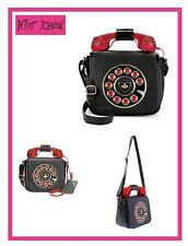 BETSEY JOHNSON KITCH 2 CALL ME CROSSBODY BAG W/RED RHINESTONES RECEIVER NWOT$108