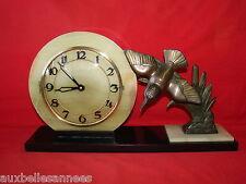 ANCIENNE PENDULE ART DECO MARBRE MÉCANISME BAYARD 7 RUBIS / HORLOGE OLD CLOCK