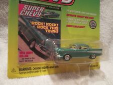 JOHNNY LIGHTNING 1957 BELAIR SUPER CHEVY MAGAZINE cover 1/64 JL Green 1999