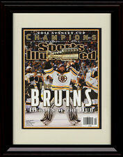 Framed 2010 Boston Bruins Champion Sports Illustrated Autograph Replica Print