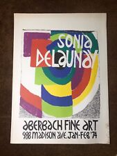 Sonia Delaunay, Exhibition at Aberbach Fine Art, Lithograph Poster