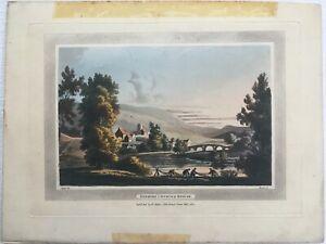 4 SUPERB COLOUR AQUATINTS SCOTLAND 1801 AFTER NATTES