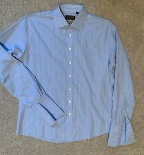 THOMAS PINK - Men's French Cuff Dress Shirt - Blue, The Imperial Slim Fit, 16.5