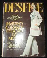 DESFILE  vtg Brazilian Fashion Magazine, Vol.1, No. 9~June 1970