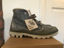 Palladium Ladies Leather Pampa Hi Wool Lined Boots UK4, EU37, Distressed Grey