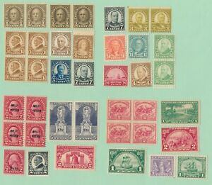 USA MINT FINE-VERY FINE OG NH GUM PRE-1940 STAMPS SINGLE BLOCK PAIR