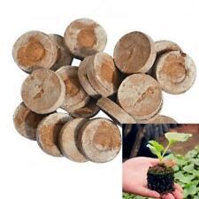 50pcs 30mm Jiffy Peat Pellets Seed Starting Plugs Seeds Starter Pallet Seedling.