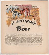 L'escapade de Paddy Radio-Contes par Lola Robert Jacques Souriau