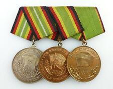 #e3207 3er Ordensspange für treue Dienste in der NVA, Silber, Bronze, KVP